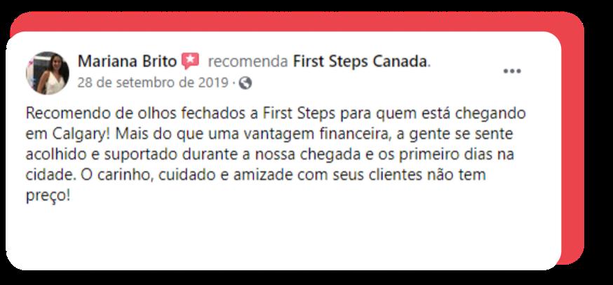 Depoimento Mariana - First Steps