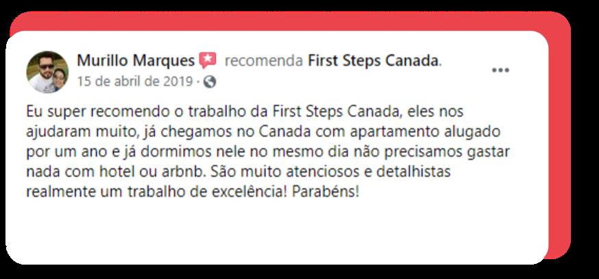 Depoimento Murilo - First Steps